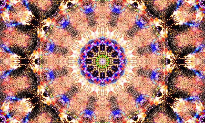Explosionen von abstrakten Formen und von Mustern lizenzfreie abbildung