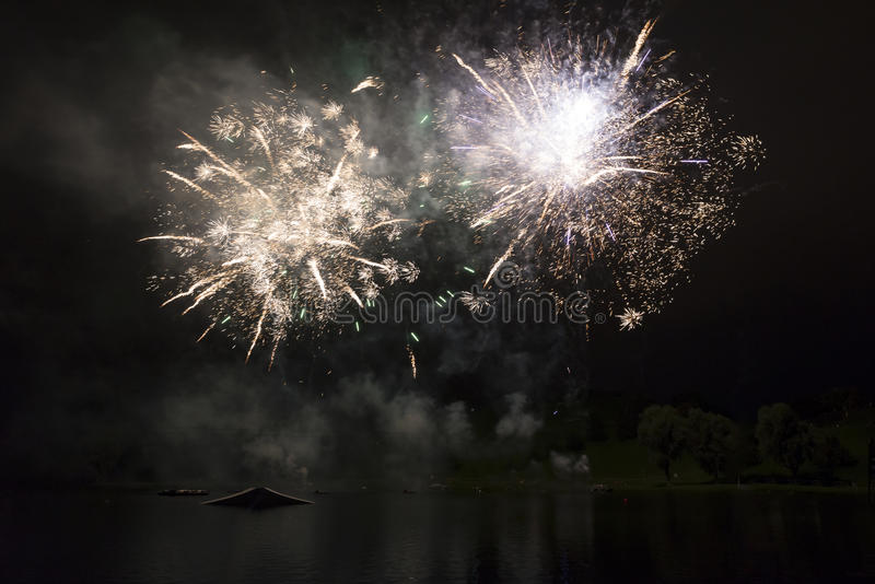 explosioner royaltyfri fotografi