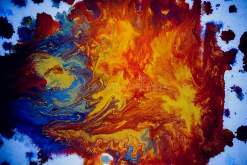 Explosiones de la pintura multicolora fotos de archivo