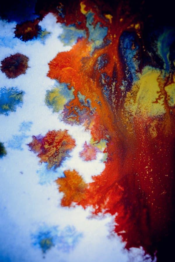 Explosiones de la pintura multicolora foto de archivo