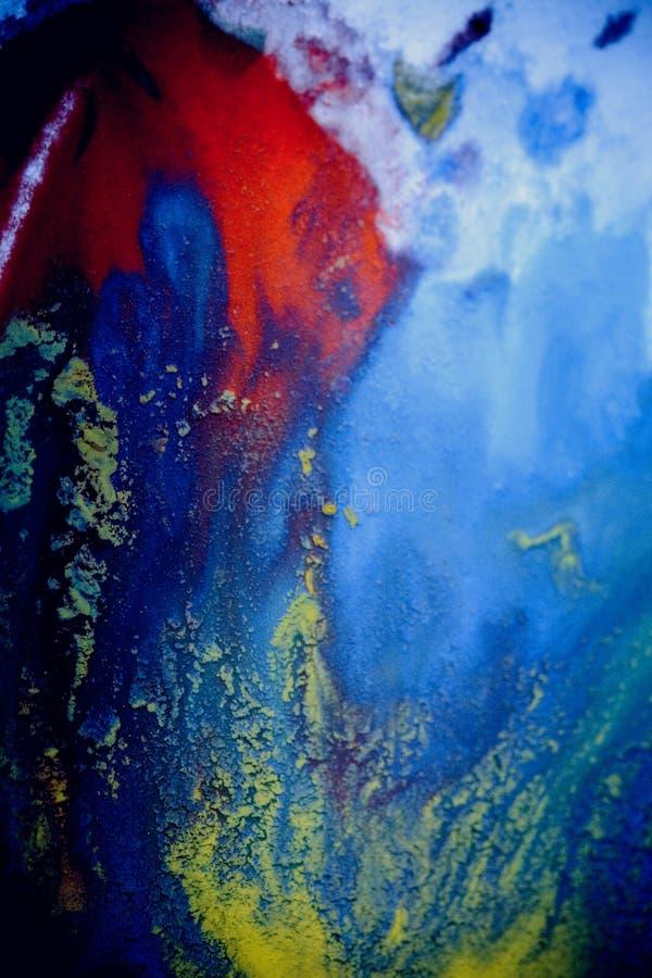 Explosiones de la pintura multicolora fotografía de archivo libre de regalías