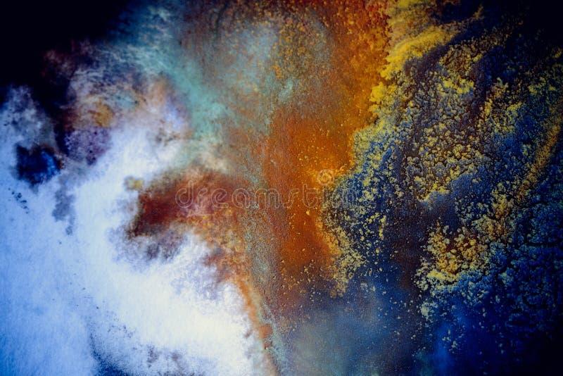 Explosiones de la pintura multicolora fotografía de archivo