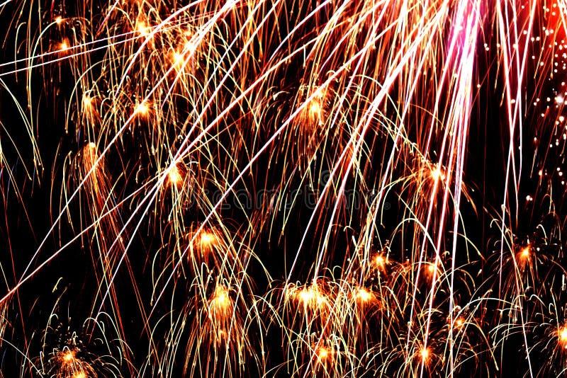 Explosiones del color en el cielo nocturno #1 fotografía de archivo