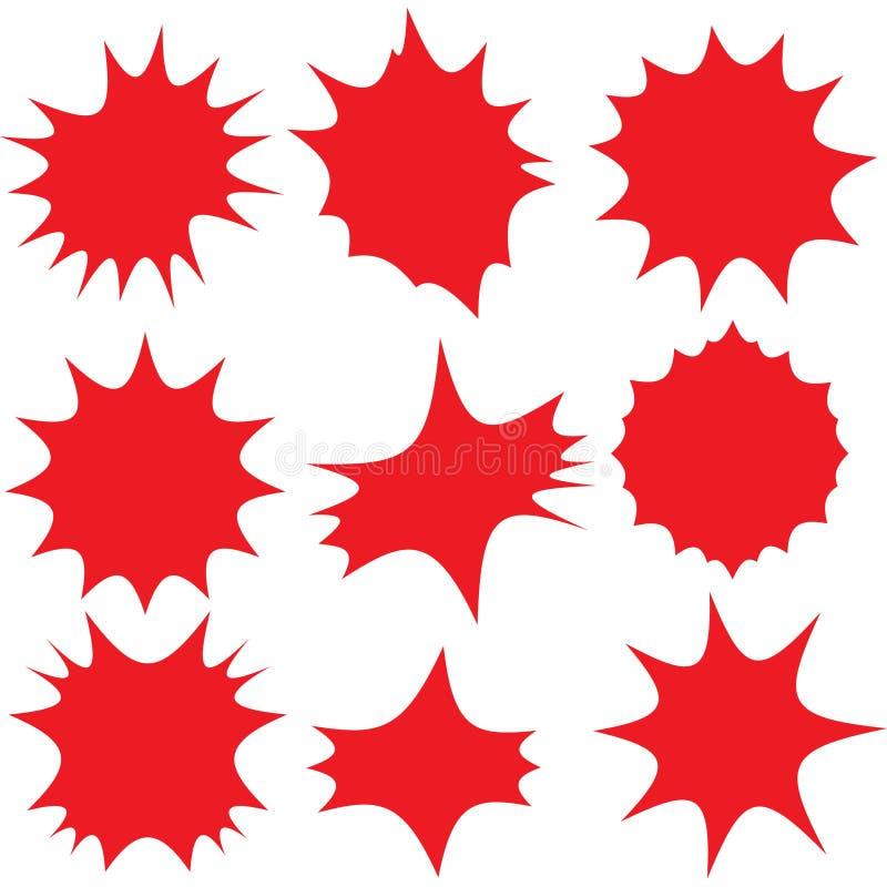 Download Explosiones del rojo ilustración del vector. Ilustración de aviso - 7277066