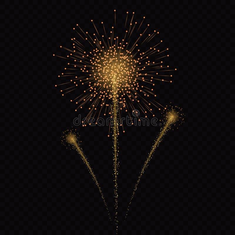 Explosiones ligeras mágicas de las estrellas del efecto del resplandor libre illustration