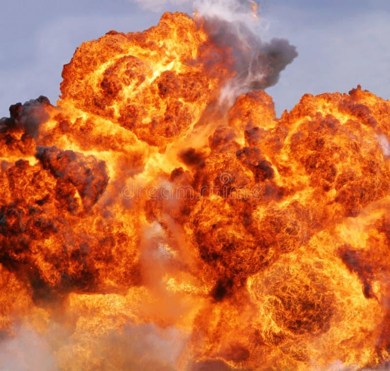 Explosionflamme stockfotografie