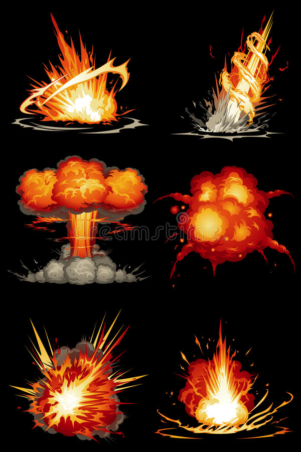 Explosions 01 vector illustration