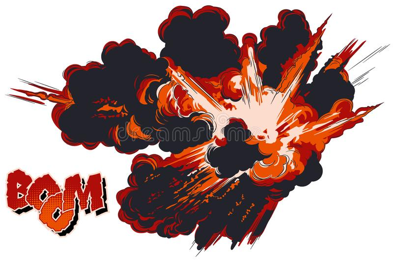 explosions Illustration courante illustration de vecteur