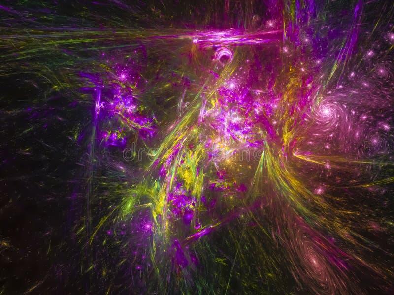 Explosionsgrafik-Kreativität des Fractalabstraktionskonzeptes plätschern digitale vibrierende der glatten Design stockfotografie