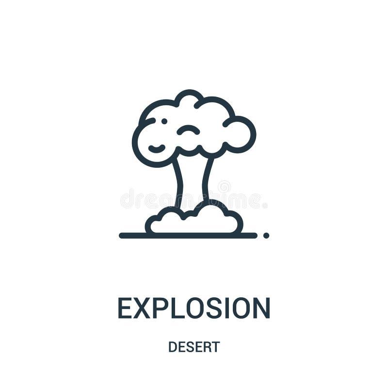 Explosionsikonenvektor von der Wüstensammlung Dünne Linie Explosionsentwurfsikonen-Vektorillustration Lineares Symbol für Gebrauc vektor abbildung