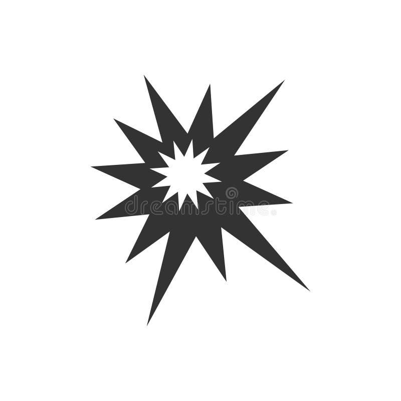 Explosionsymbolslägenhet vektor illustrationer