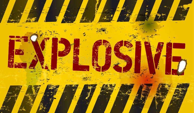 Explosiv varning royaltyfri illustrationer
