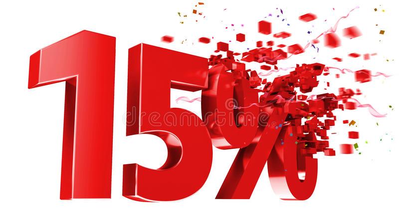 Download Explosive 15 Percent Off On White Background Stock Illustration - Image: 22496930