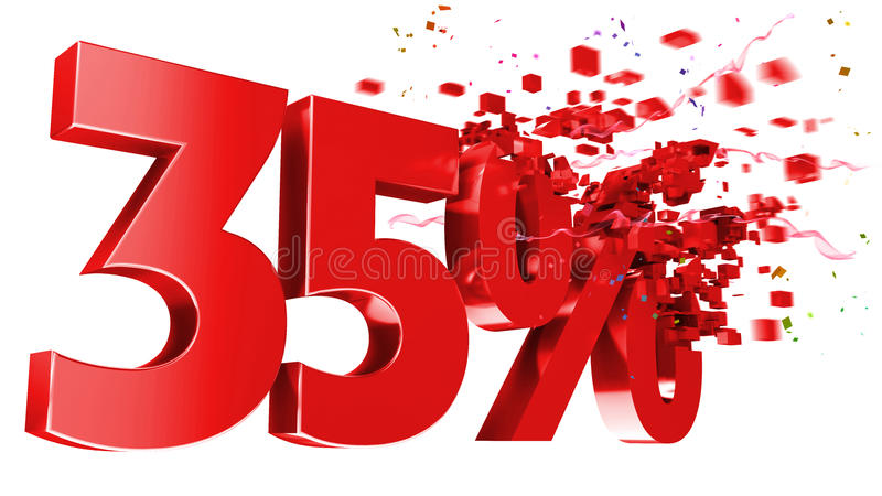 Download Explosive 35 Percent Off On White Background Royalty Free Stock Photo - Image: 22496955