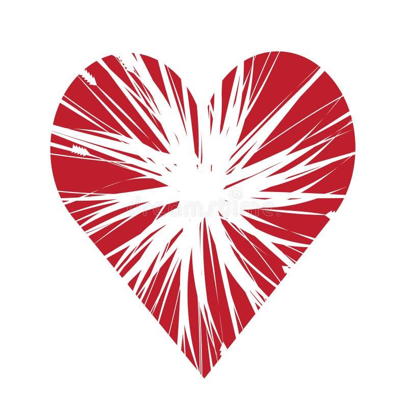 Download Explosive Heart stock illustration. Illustration of lover - 9125583