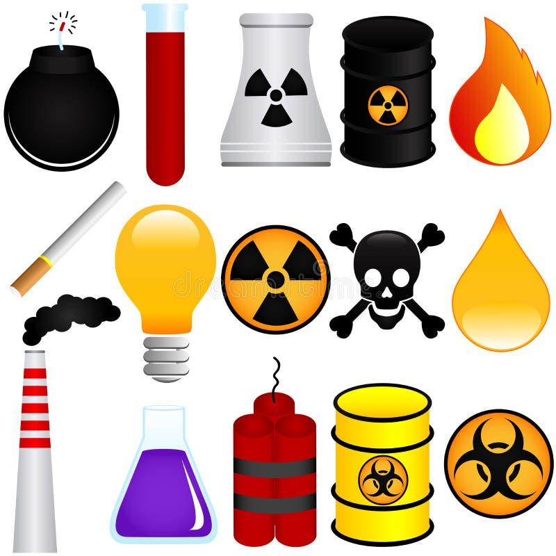 Explosive Materialien stock abbildung