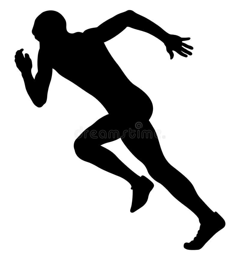 Explosive start sprinter runner royalty free illustration