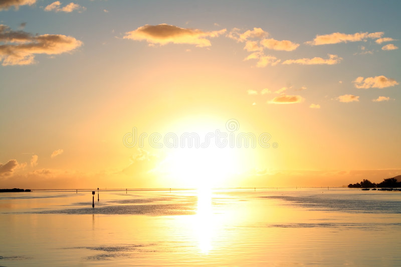 Explosive sun. Explosive tropical sunrise royalty free stock images
