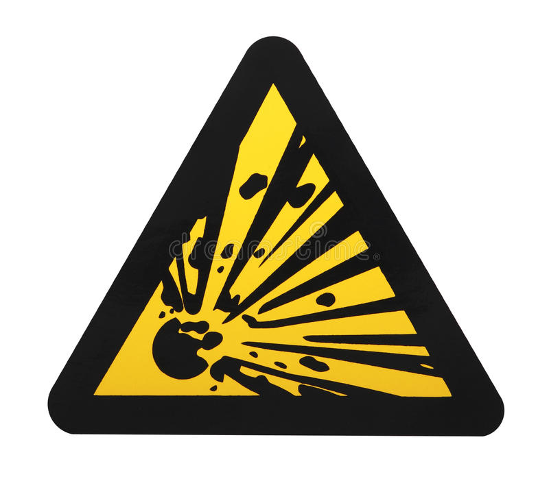 Explosives warning sign royalty free stock image