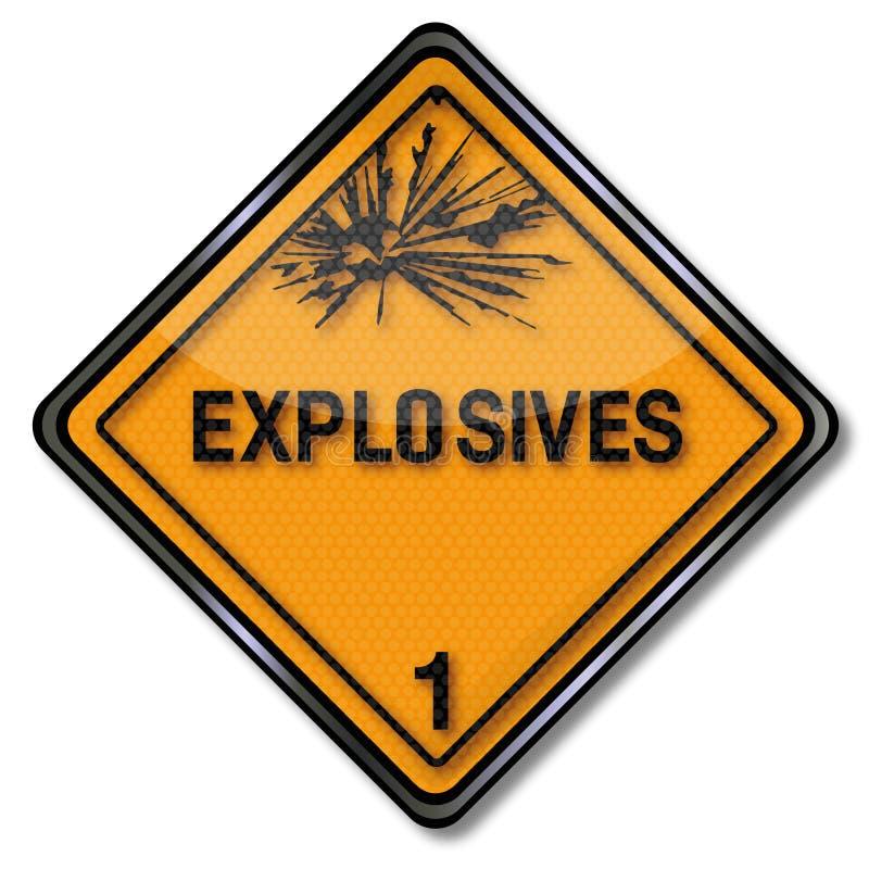Explosivo 1 do sinal de perigo ilustração stock
