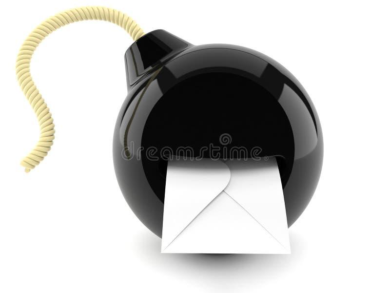 Explosivt postbegrepp stock illustrationer