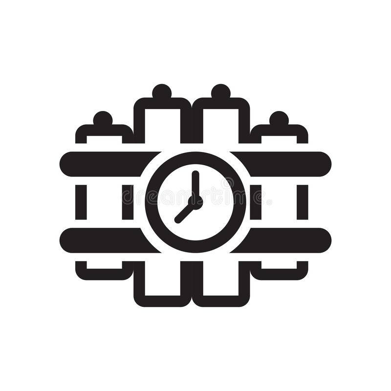 Explosivt symbolsvektortecken och symbol som isoleras på den vita backgrouen vektor illustrationer