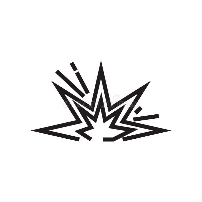 Explosivt symbolsvektortecken och symbol som isoleras på vit bakgrund, explosivt logobegrepp vektor illustrationer