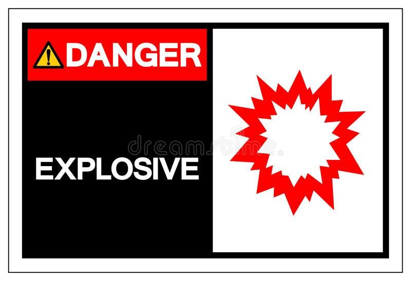 Explosivt symboltecken för fara, vektorillustration som isoleras på den vita bakgrundsetiketten EPS10 vektor illustrationer