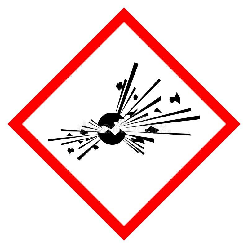 Explosivt symboltecken, vektorillustration, isolat på den vita bakgrundsetiketten EPS10 vektor illustrationer