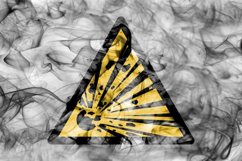 Explosivt tecken för rök för viktfaravarning Triangulär warni royaltyfri illustrationer