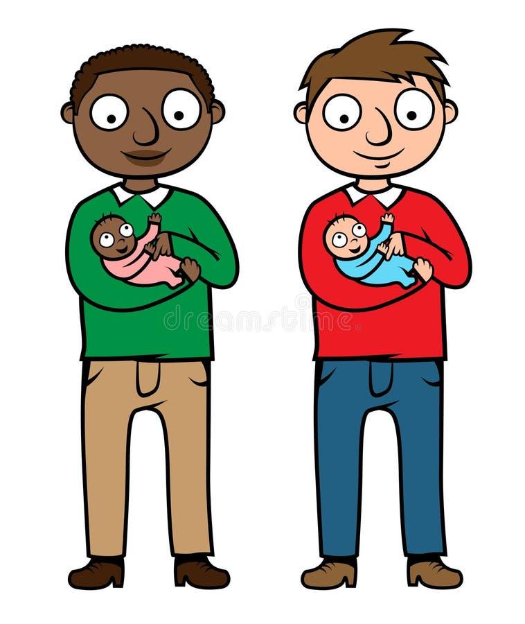 Explotación agrícola del padre y el jugar con el bebé libre illustration