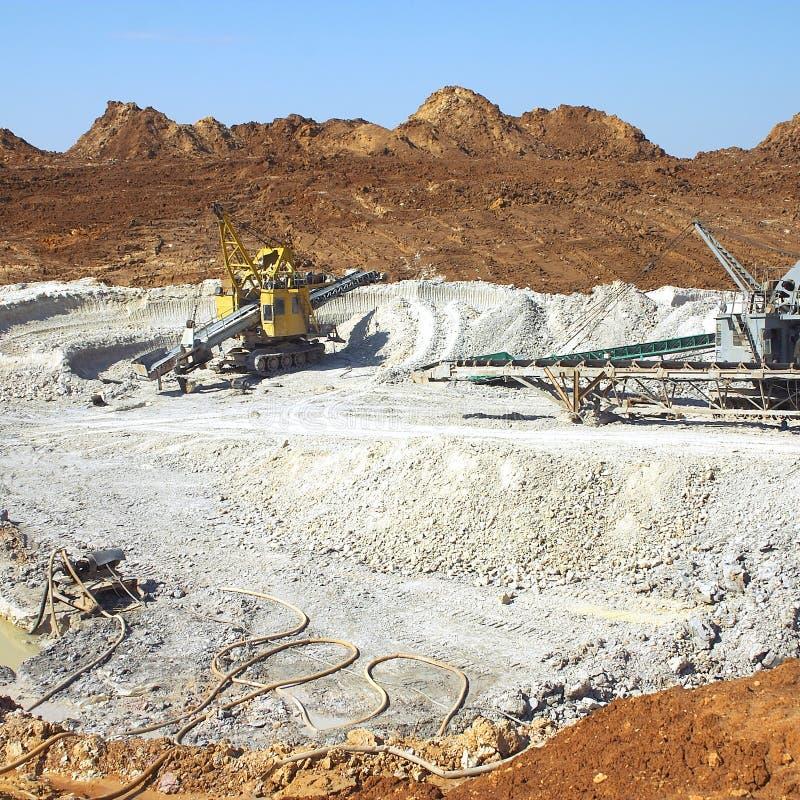 Explotación minera de la arcilla imagen de archivo libre de regalías