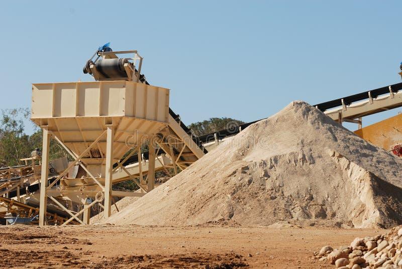 Explotación minera de la arena fotos de archivo