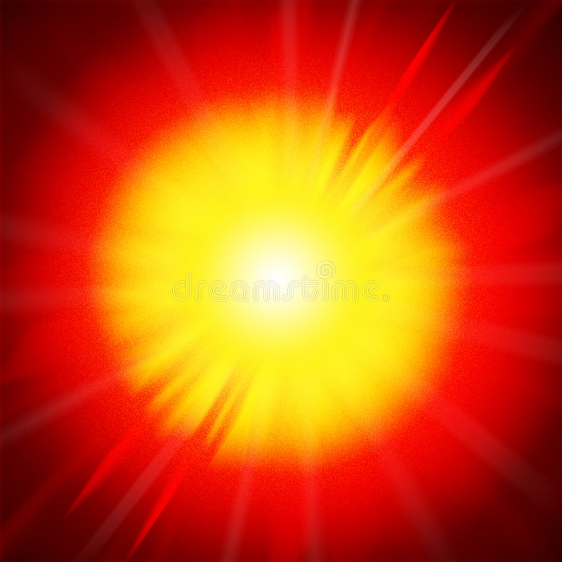 Explotion del fuego ilustración del vector