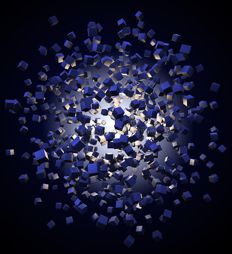 Free Explotion Of Abstract Cubes Stock Photography - 11506612