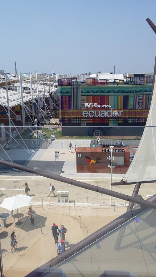 EXPO Μιλάνο 2015 Μιλάνο Ισημερινός στοκ εικόνες