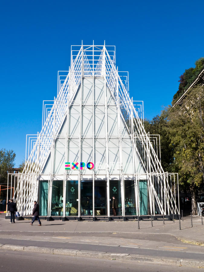 EXPO 2015, Μιλάνο στοκ φωτογραφία με δικαίωμα ελεύθερης χρήσης
