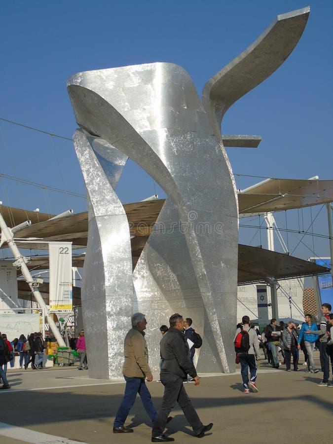Expo av Milan för den internationella mathändelsen arkivbild