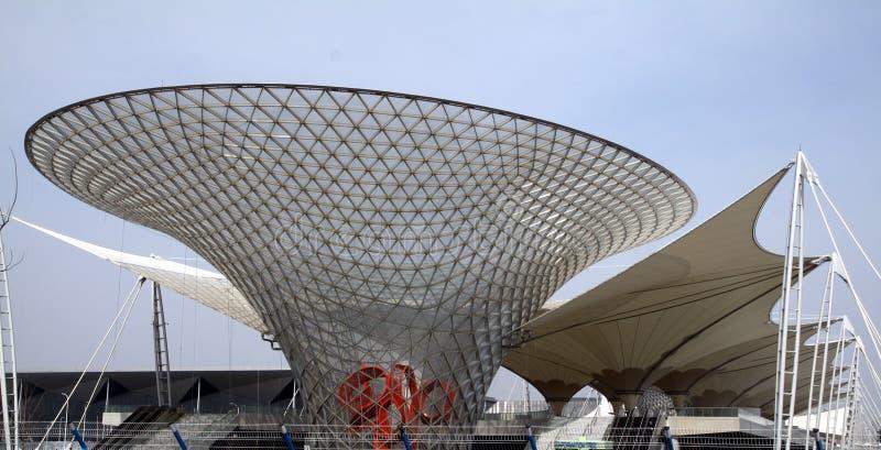 EXPO-AXIS, экспо Шанхай 2010 Китай стоковое фото rf