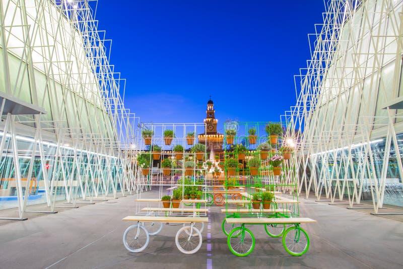 EXPO brama 2015 w Mediolan, Włochy fotografia royalty free