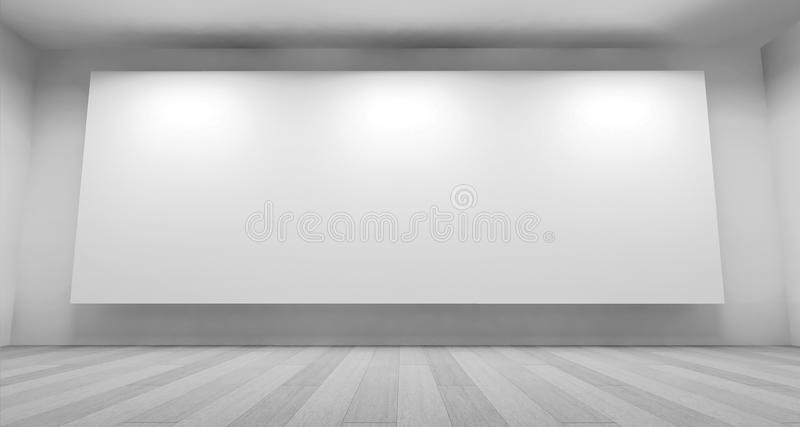 Expo Clean Art Gallery Space With Blank Frames On The