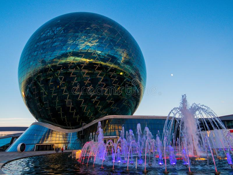EXPO 2017 complex, Nur-Sultan, Kazachstan royalty-vrije stock foto