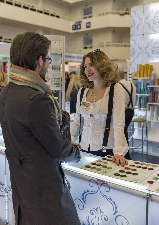 Expo da beleza de Estet em Kiev, Ucrânia imagens de stock royalty free