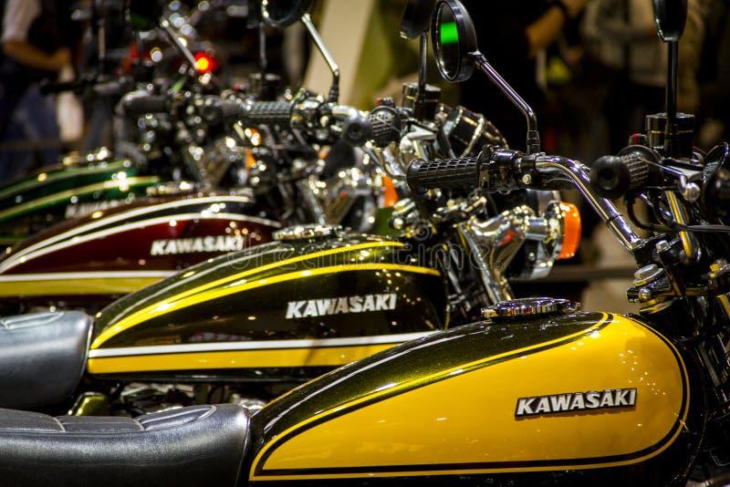 Expo de las motocicletas en cierre de la demostración de Milán EICMA para arriba imagenes de archivo