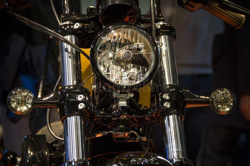 Expo de las motocicletas en la linterna de Harley Davidson de la demostración de Milán EICMA imagenes de archivo
