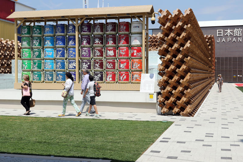 Expo de Milán, Italia foto de archivo