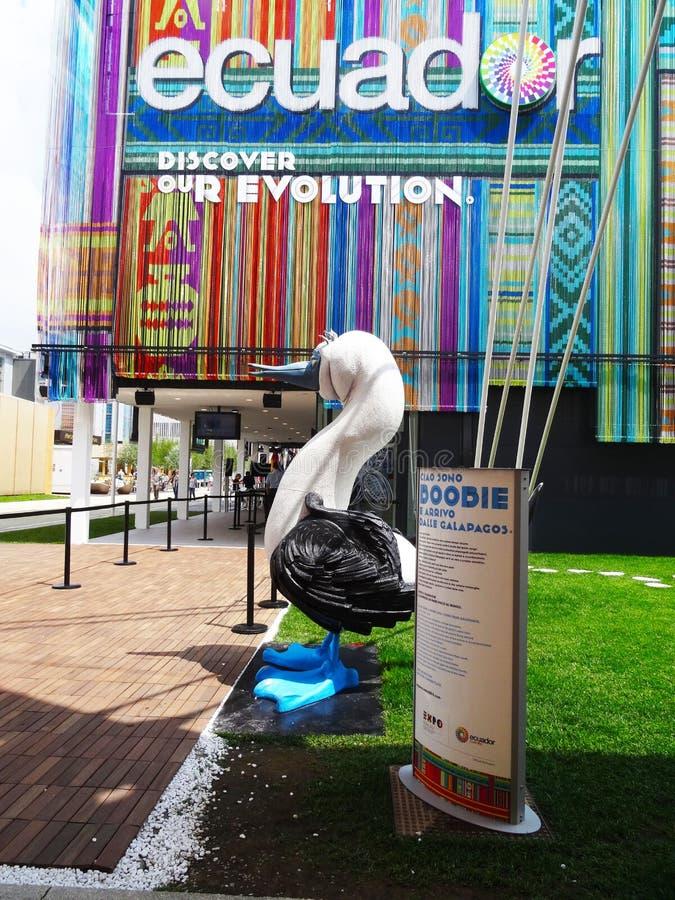 Expo 2015 de pavillon de Doodie Equateur photo libre de droits