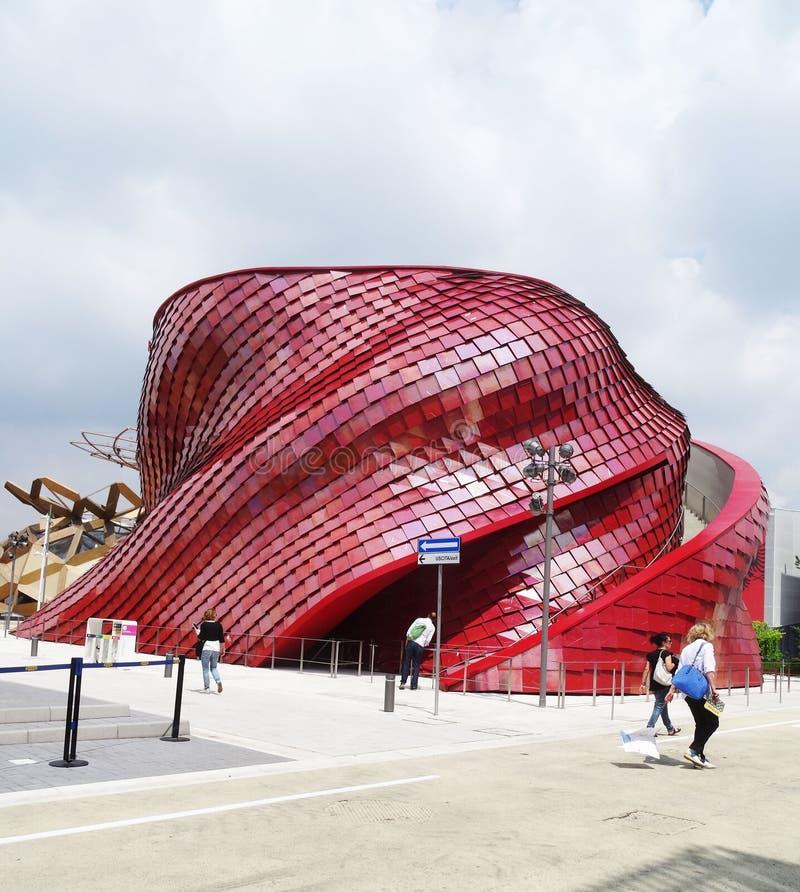 Expo 2015 de pavillon de Vanke Chine photographie stock