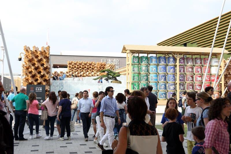 Expo di Milano, Italia fotografia stock