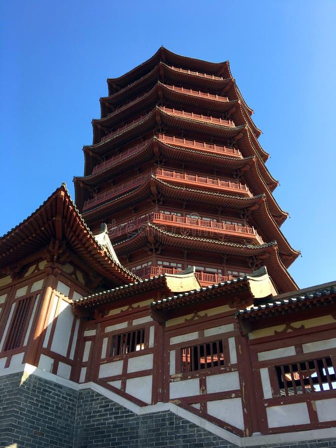 Expo do jardim do Pequim, estilo arquitetónico clássico chinês imagem de stock